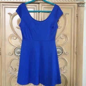 C'est toi A line skater dress in royal blue nwot L